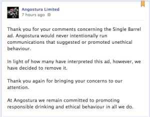 Image of Angostura FB apology
