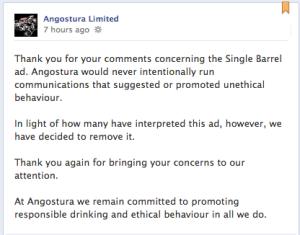 Image of Angostura FB apology