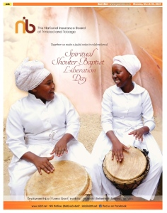 NIB Spiritual Shouter Baptist Liberation Day Ad