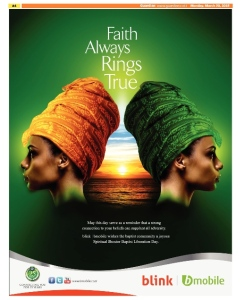 bmobile / blink Spiritual Shouter Baptist Liberation Day Ad