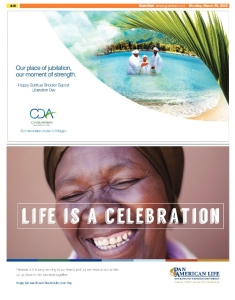 CDA / PAL Spiritual Shouter Baptist Liberation Day Ad